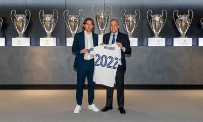 Real Madrid midfielder Luka Modric signs contract extension for another 12 months