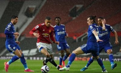 Leicester City knocked Manchester United securing third place in Premier League table