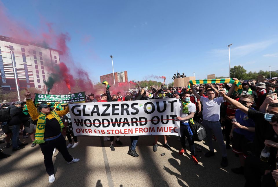United fans set to protest outside Old Trafford