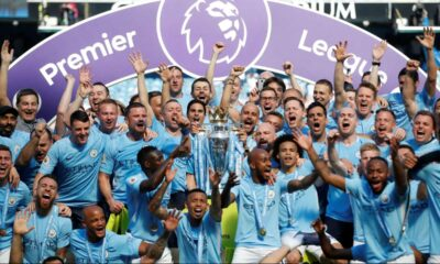Manchester City celebrates Premier League title victory with win over Everton
