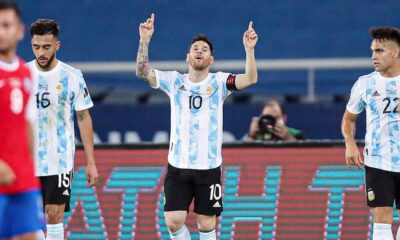 Argentina played a draw with Chile at Copa America