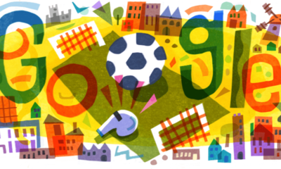 Google celebrates the start of Euro 2020 with a doodle