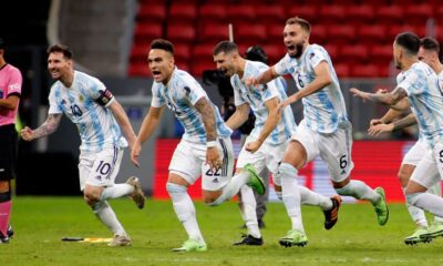 Argentina defeated Colombia in Copa America