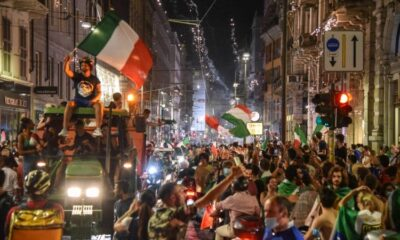 Italy fans shouted 'It's coming Rome' as they celebrated Euro 2020 win