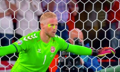 UEFA to probe laser light incident on Schmeichel during England victory over Denmark