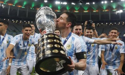 Lionel Messi dedicated Copa America trophy to Diego Maradona and Argentine nationals