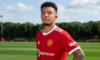 Jadon Sancho officially joins Manchester United