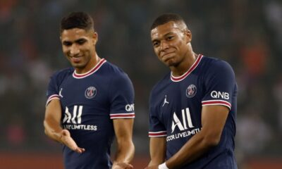 Kylian Mbappe and Achraf Hakimi referred as brothers in PSG