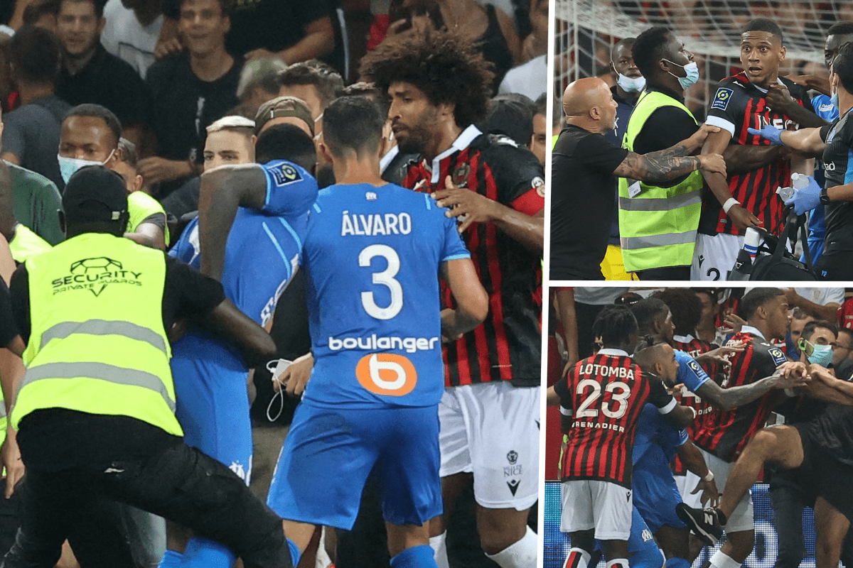 Nice and Marseille match called off after fans invaded pitch