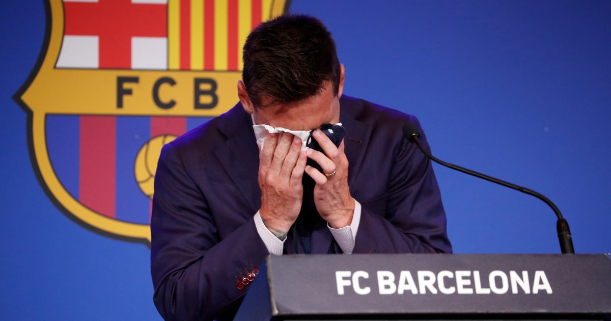 Lionel Messi bids farewell to Barcelona in tears