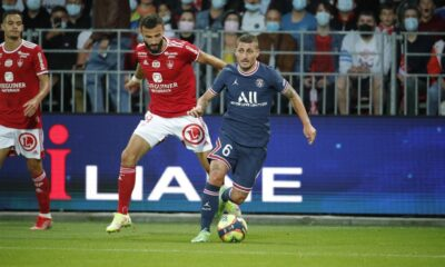 PSG defeated Brest taking lead in Ligue 1