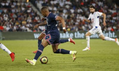PSG win over Strasbourg while stadium echoed by Messi's name
