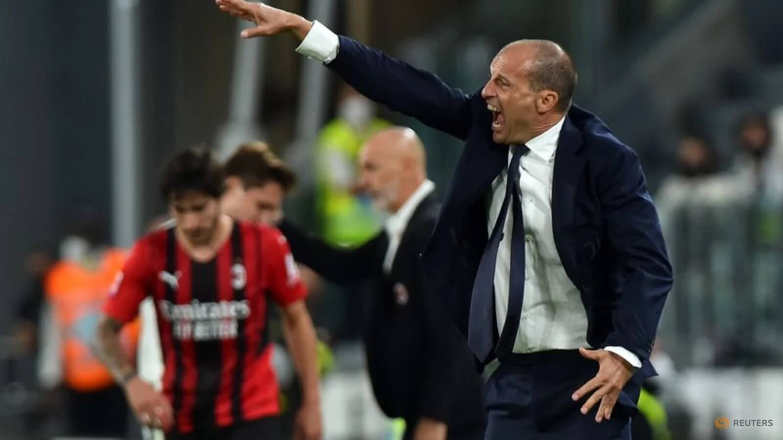 Juve's Allegri stormed off the field against Milan