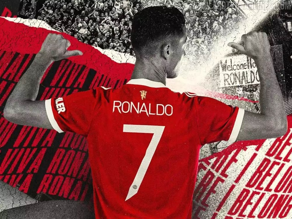 Manchester United assigned Ronaldo his iconic number 7