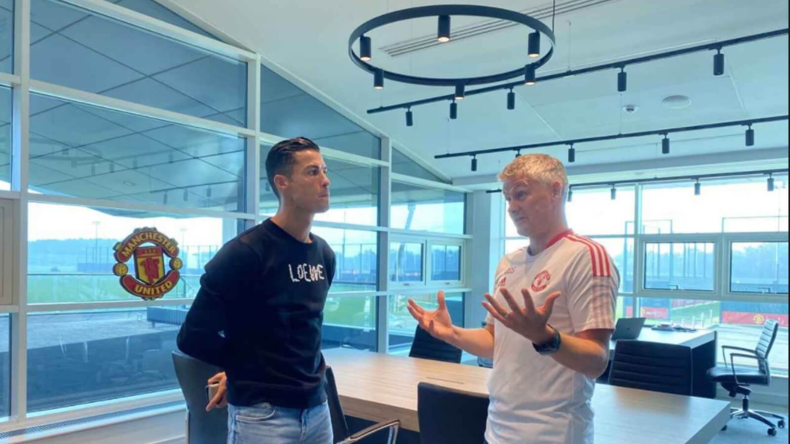 Cristiano Ronaldo trained first time with Manchester United at Carrington