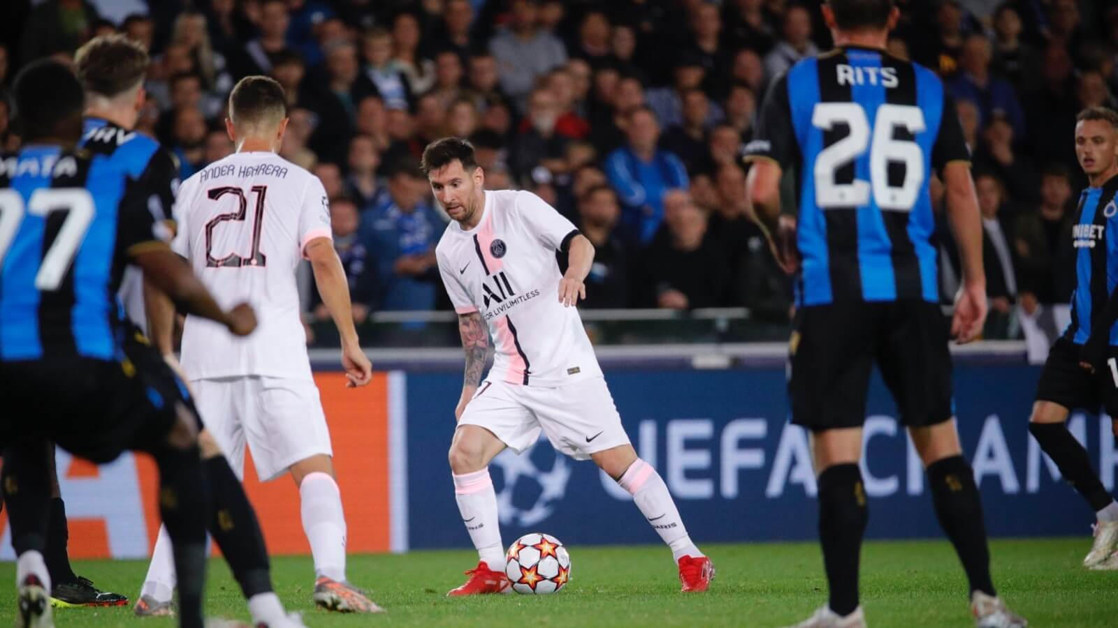 PSG draw with Belgian club Brugge