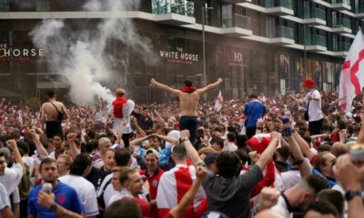 England face two-game stadium ban and €100,000 fine by UEFA