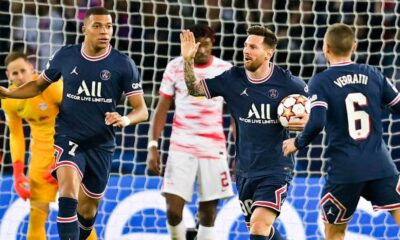 Messi's double helped PSG win against RB Leipzig